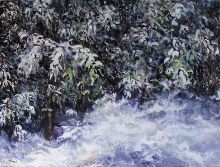 """""""Winters Queen"""" 24""""x36"""" oil on canvas. Inquire for price"""