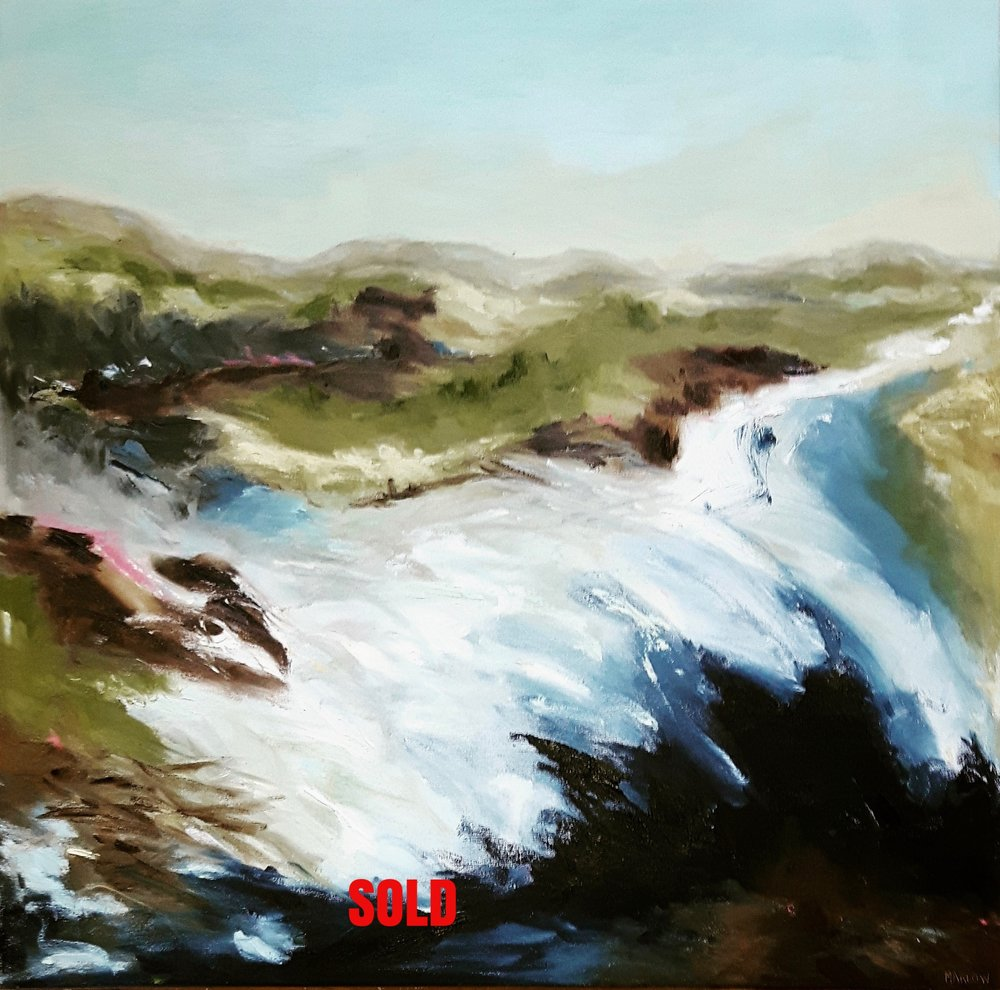 """""""Spring Thaw"""" Oil on 24""""x24"""" Gallery Wrap  SOLD"""