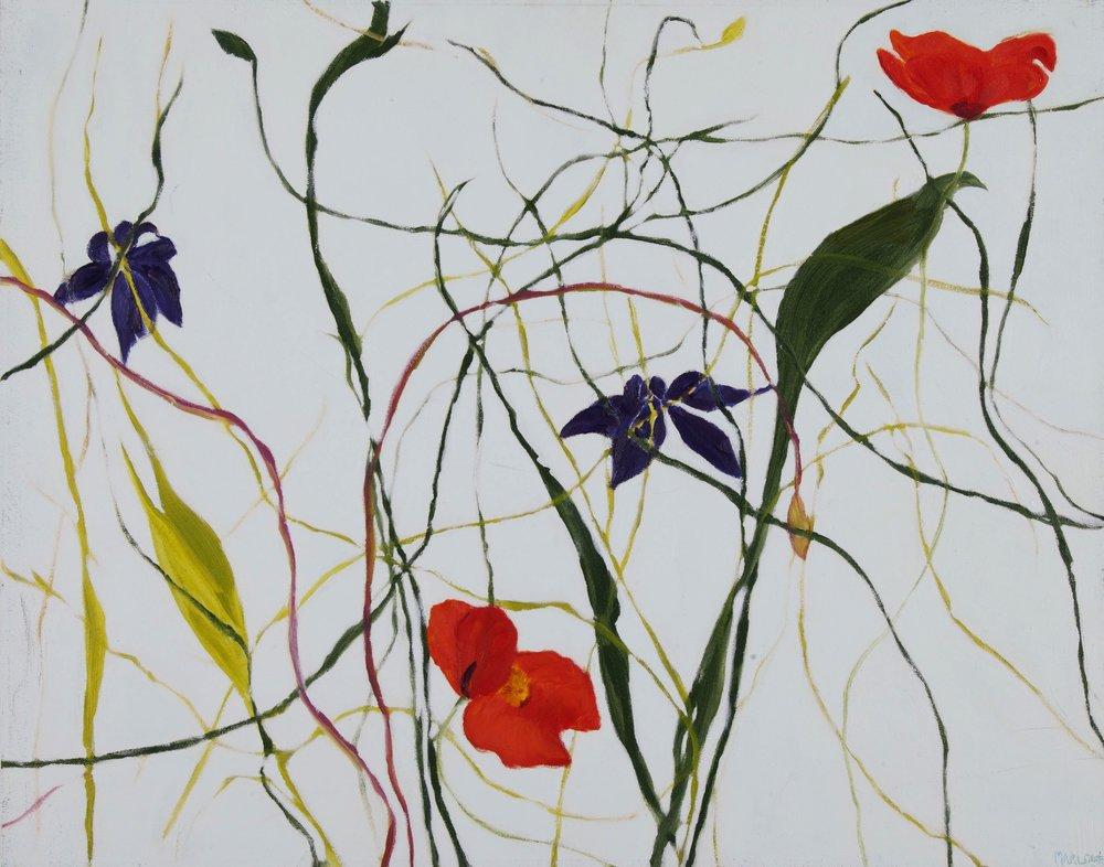 """""""Kimono Floral""""  22"""" x 28"""" oil on Gallery Wrap  Canvas $700.00"""