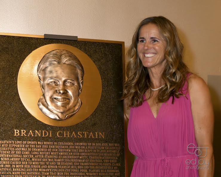 Brandi Chastain at BASHOF Enshrinement Banquet