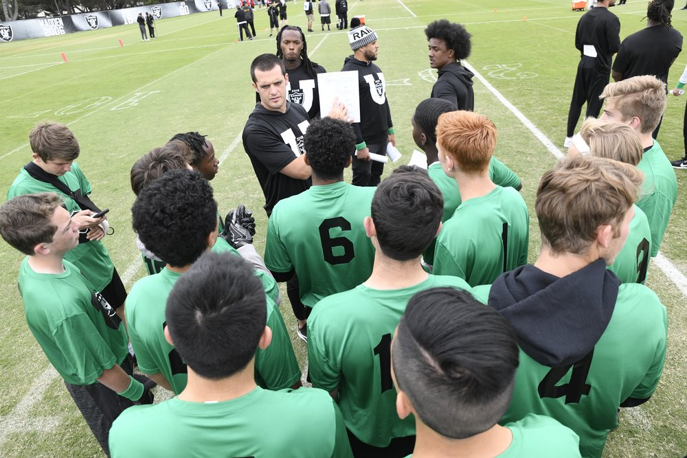 Oakland Raiders host Organized Team Activity (OTA) Day with local high schools