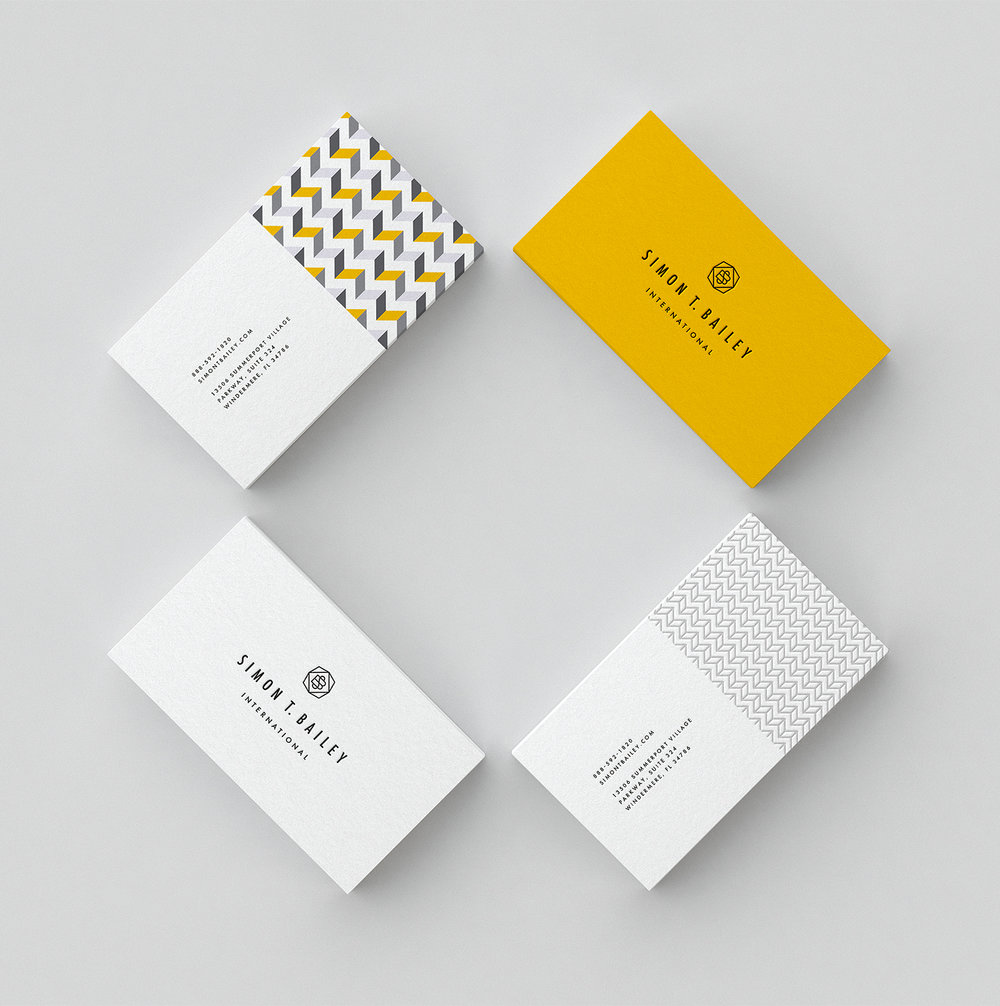Simon's business cards