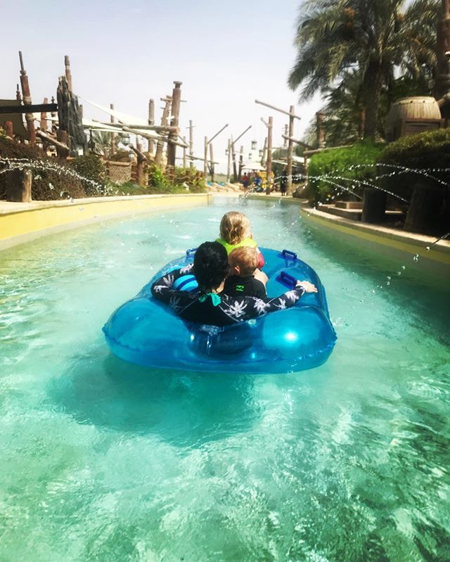 Me and my chickens in a rubber boat, tube, duck? @yaswaterworld is the best way to cool down on a hot #abudhabisummer day ☀️ . I'm still not 100% sure how I feel about the crazy water slides...I reckon, close your eyes and just go 🙈 but it's yet again, another amazing #kidfriendly spot in the Emirate • • • #mommyexplores #mommyexplorestakesonabudabi #exploreabudhabi #yaswaterworld #explorewithkids #mommyblogger #momblogger #mommybloggersofabudhabi #abudhabimommybloggers #abudhabi #abudhabiadventure #travelblogger #waterparks #summerinabudhabi #abudhabisummer