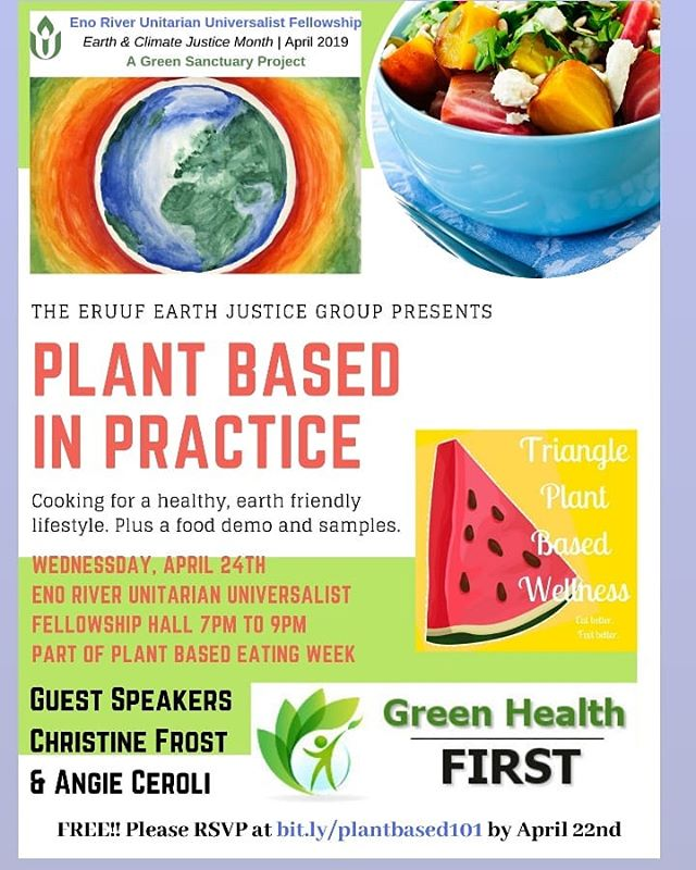 Only a few spots left for this totally FREE demonstration and talk by myself and Angie at Green Health First. Leap into Spring by eating green.🥦🍏🥗RSVP at bit.ly/plantbased101 by tomorrow night.