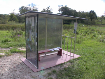 Passive Solar Illuminated Photo Bus Shelter in 3/4 scale