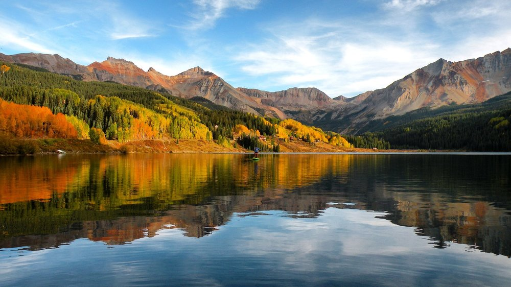Fall colors at Trout Lake near Telluride Colorado