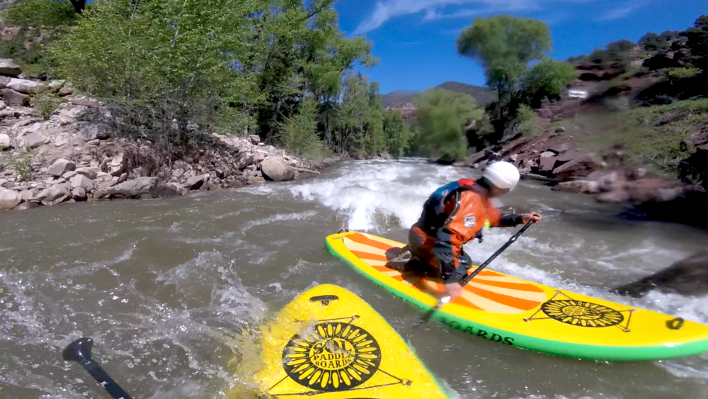 Whitewater SUP on the San Miguel River near Telluride Colorado