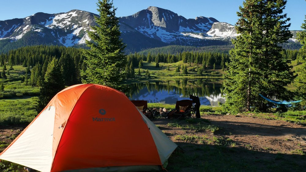 Camping at Little Molas Lake near Silverton Colorado