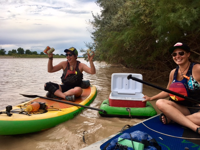 You give your beer a floaty. Give yourself one too! (We found this cooler full of beer stuck in some brush along the banks of the Colorado River in Grand Junction. Sweet river booty score!)