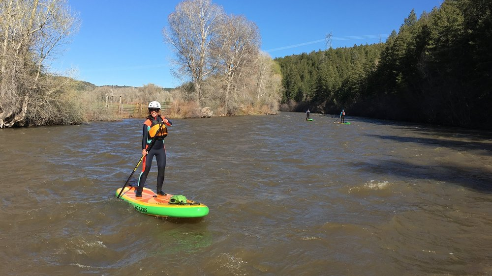 Stand up paddle boarding the Dolores River