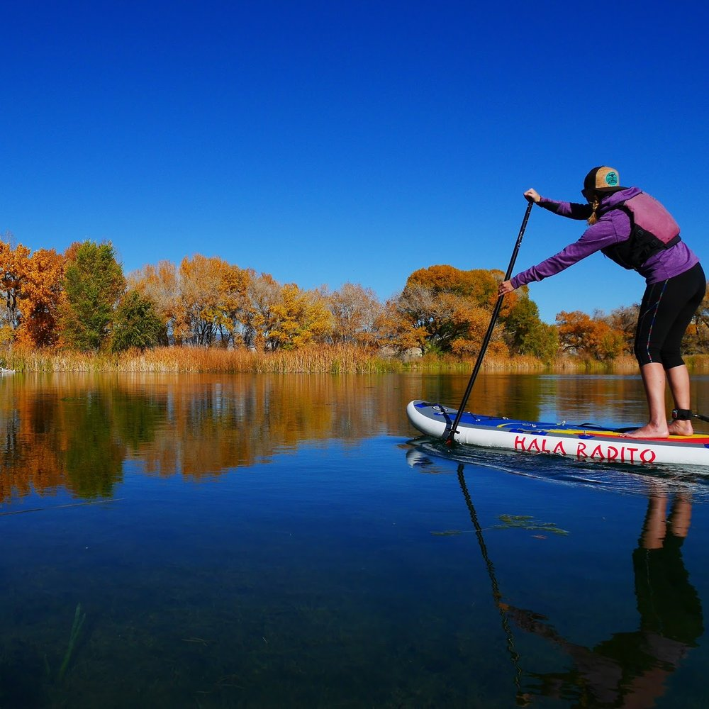 The Radito on the glassy waters of Chipeta Lake in Montrose, Colorado.  [Ph: Nola Svoboda]