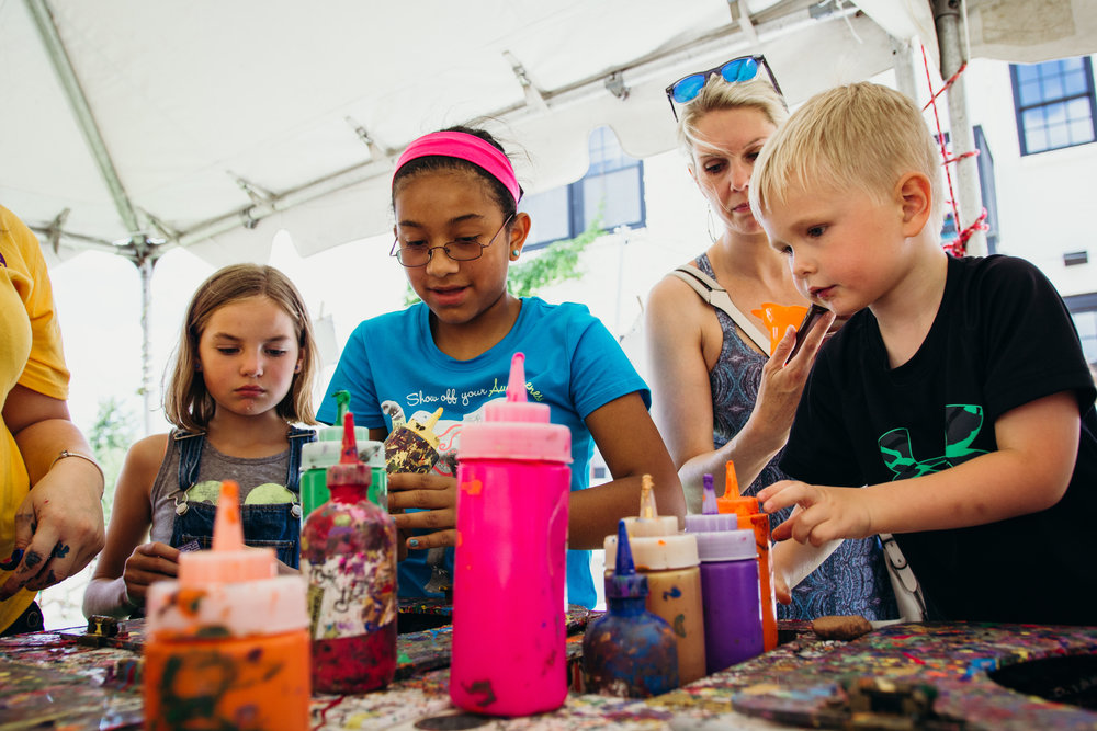 Children's Tent | Paseo Arts Festival 2017