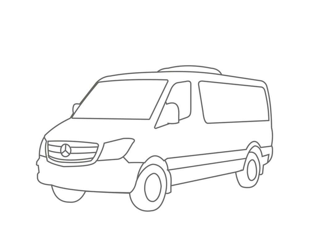 Black Sprinter Van