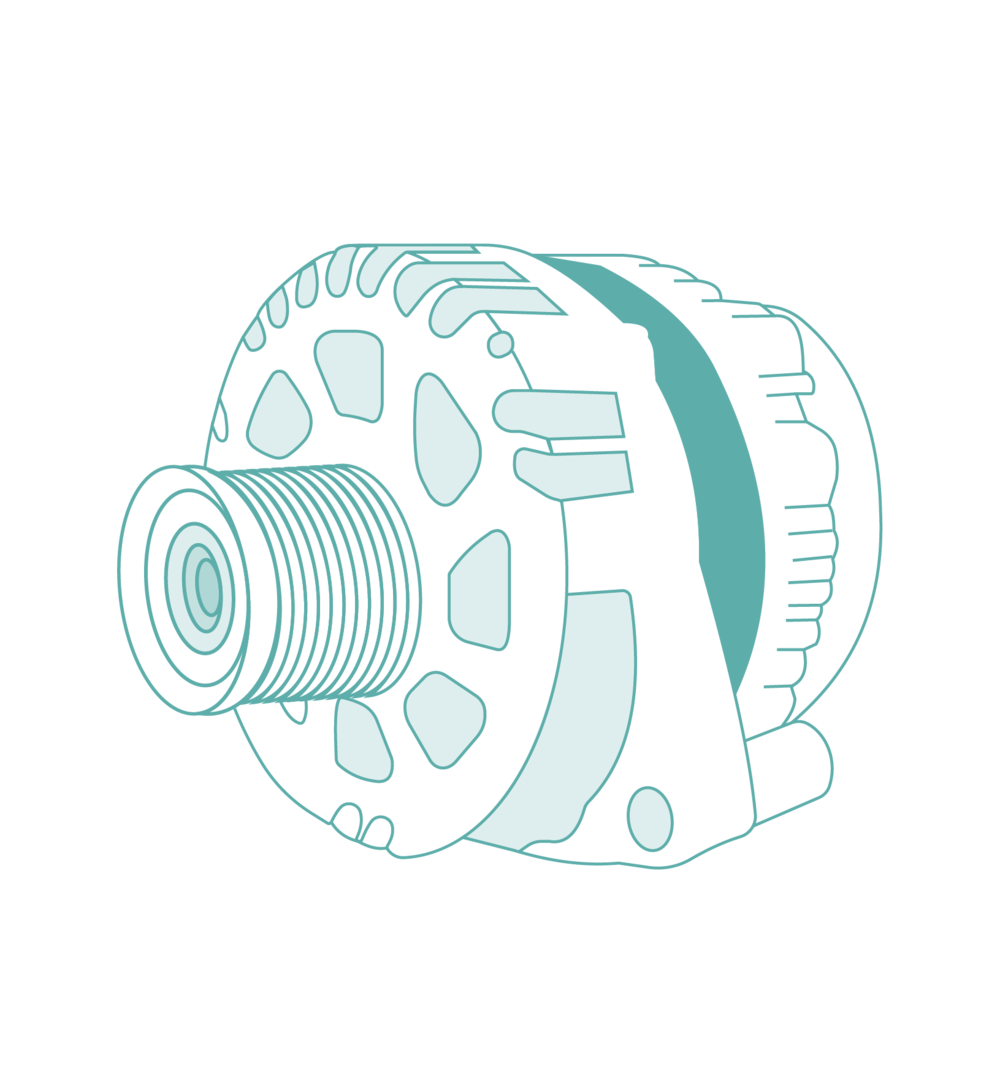 280 Amp High Output Alternator - Charges your battery in minutes. Idle your engine and you will be charging your batteries at up to 280 Amps!