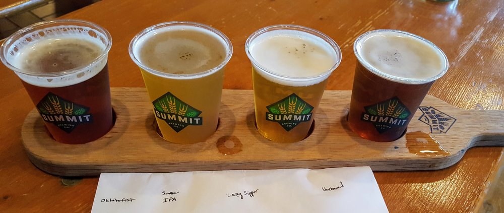 Flight: Oktoberfest, Smash IPA, Lazy Sipper, and Unhained