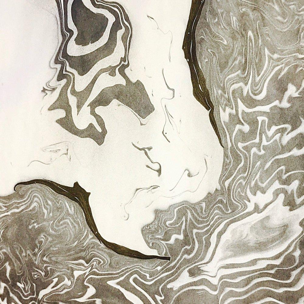 SUMINAGASHI FLOATING INK PRINT