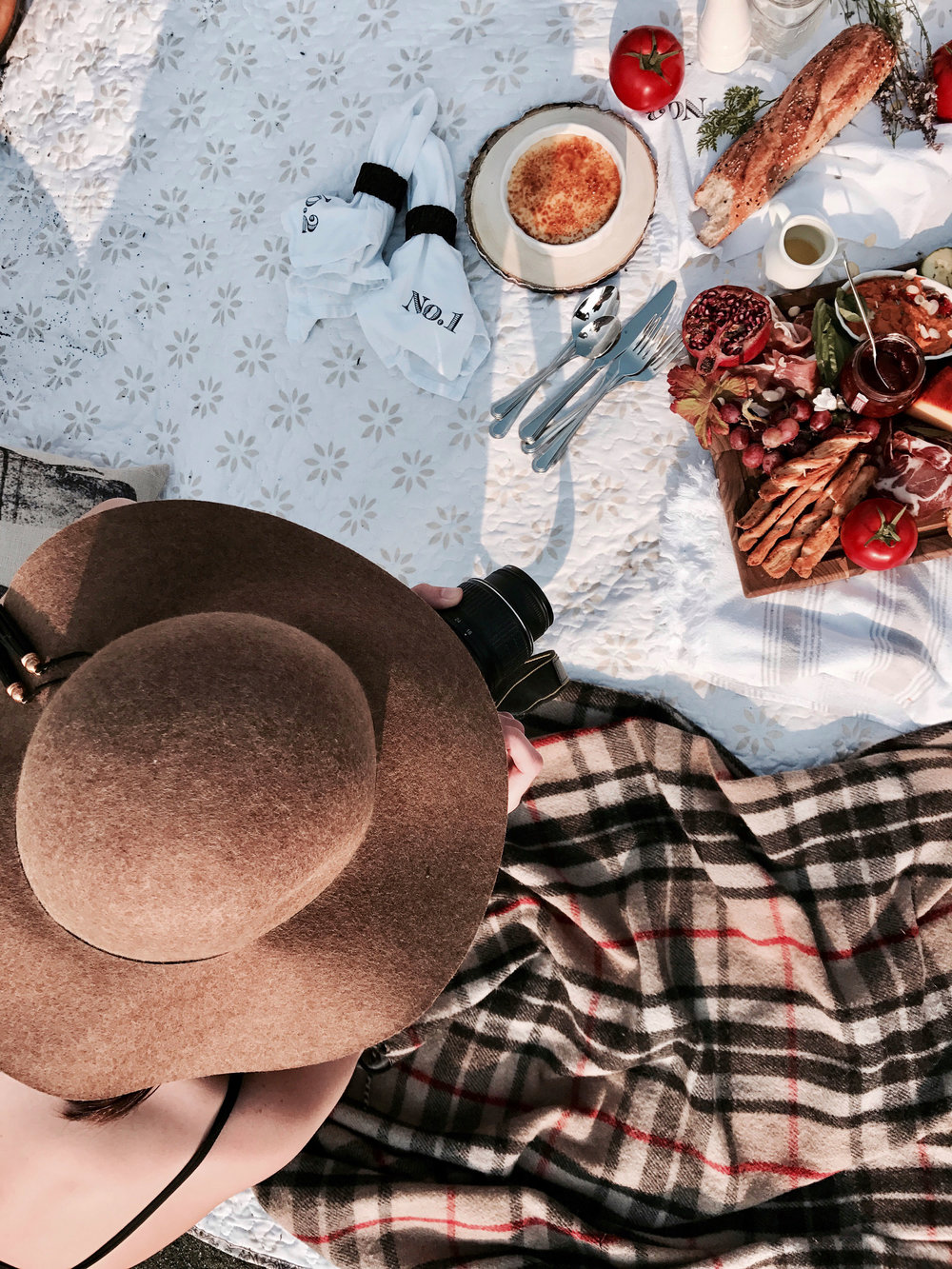 Picnic Inspiration autumn fall style charcuterie creme brulee