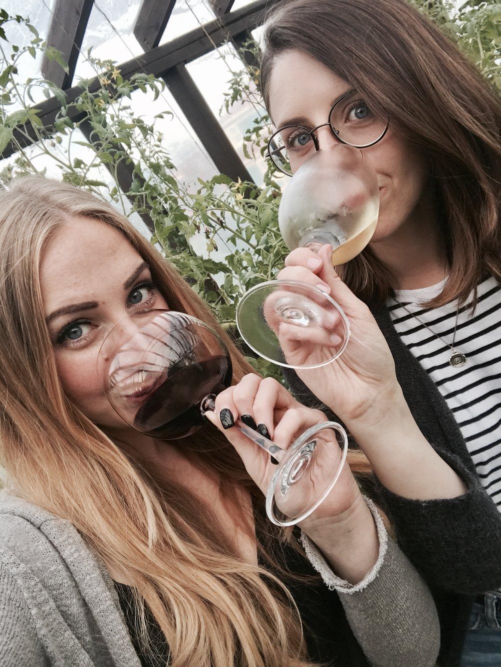 best friends drinking wine cabernet sauvignon chardonnay halloween candy wine pairing