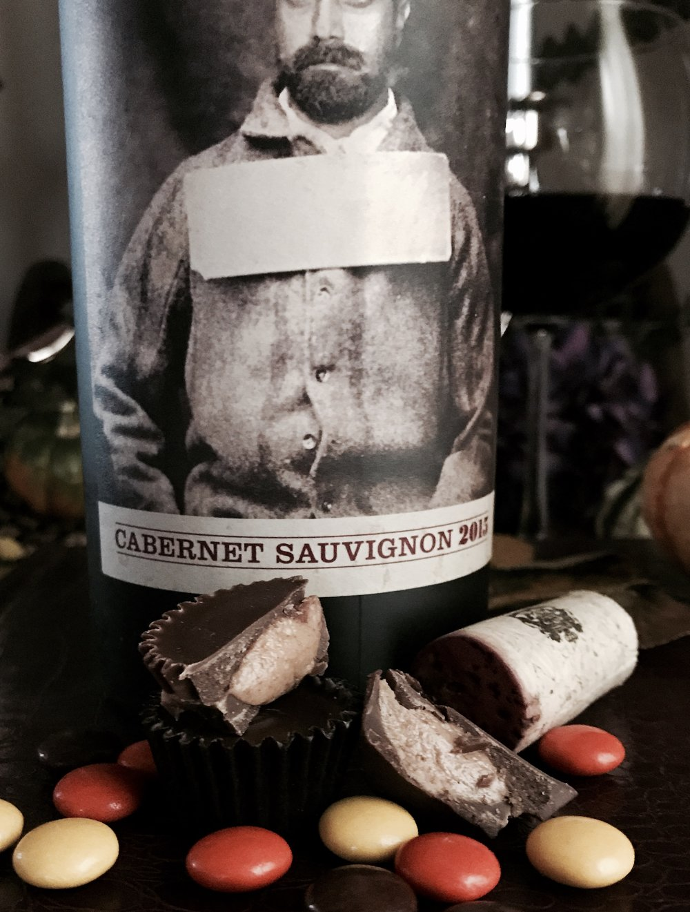 19 crimes wine cabernet sauvignon halloween candy pairing reese pieces cups