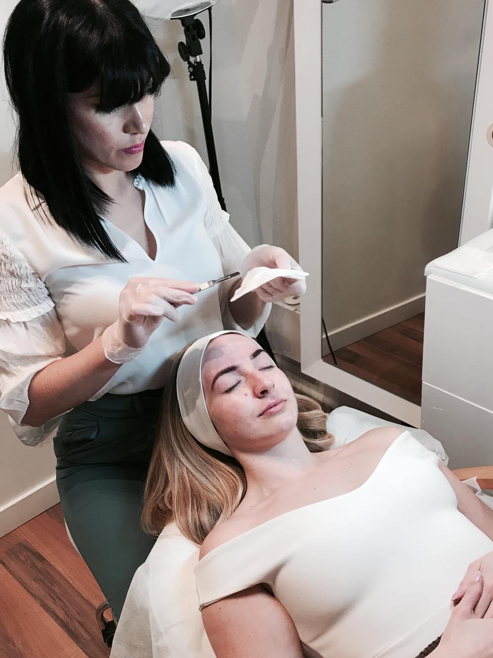 dermaplaning treatment skincare routine glowing skin tinting brow threading maryamcollahi vancouver yaletown studio