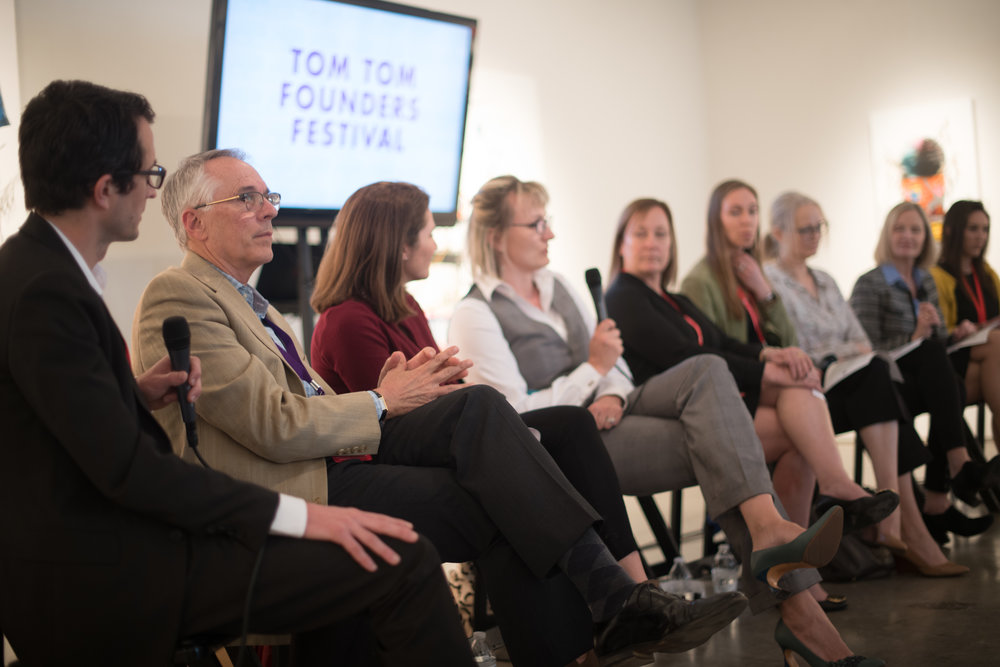 We had a wonderful time at the Tom Tom Festival presenting our Virginia is For Impact Investing Lovers panel!  Many thanks to Ed Gerardo, Jen Gionvannitti, Elena Loutskina, Caroline Nowery, Katherine St. Onge, Roberta Keller, Kathy Neumann, Sydney England and Stephanie Randolph.
