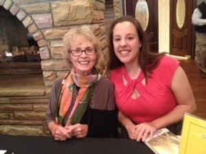 Me and Lee Smith, after her talk.