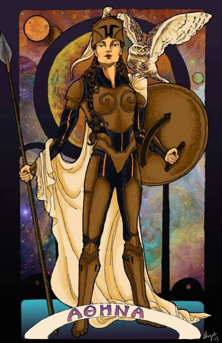 """""""Athena,"""" copyright 2013 Ginger Breo. Created for the anthology """"Athena's Daughters,"""" published by Silence in the Library."""