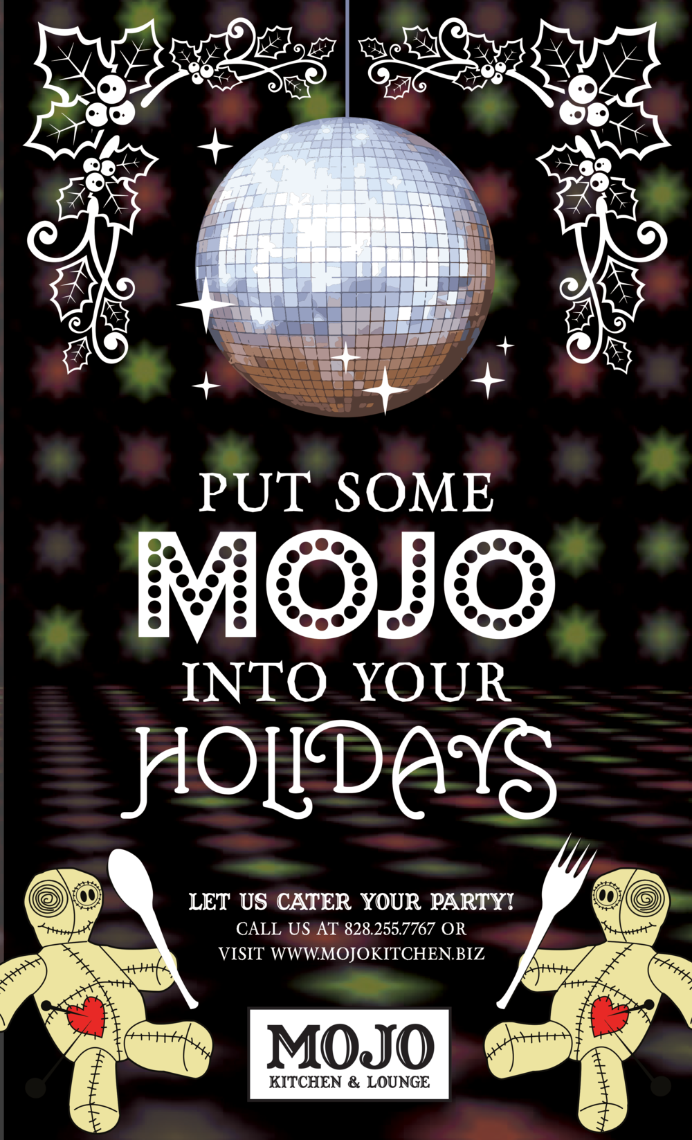 Mojo Kitchen & Lounge Holiday Catering Flyer