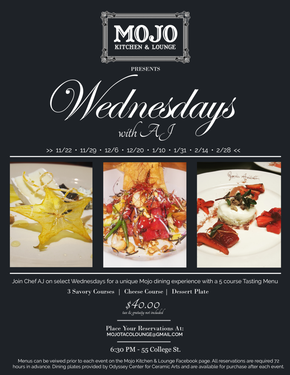 Mojo Kitchen & Lounge - Wednesday's With AJ Flyer