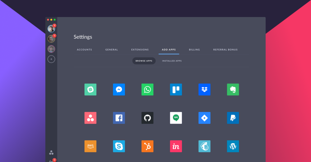 Wide variety of popular apps (Slack, Evernote, WordPress, etc.)
