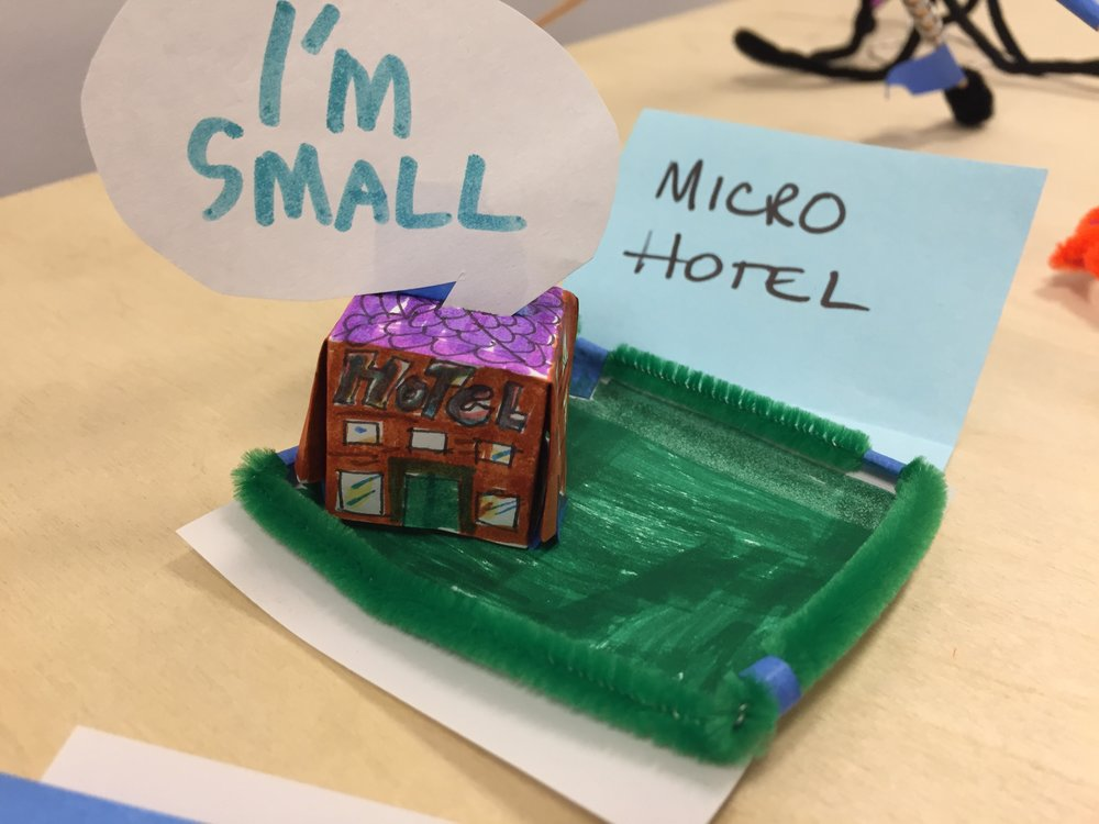 Micro hotel by Susan.