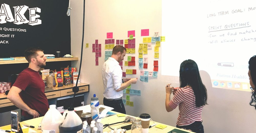 Every Design Sprint starts with a vision of the future personified by the long-term goals the organization wants to achieve.
