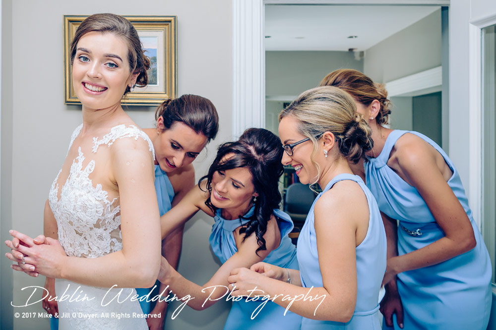 Marlfield House Wedding  Bridesmaids Morning Bridal Prep