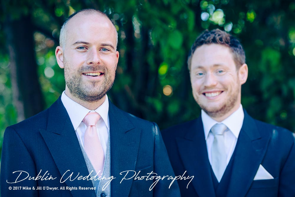 Marlfield House Wedding  Groom & Best Man
