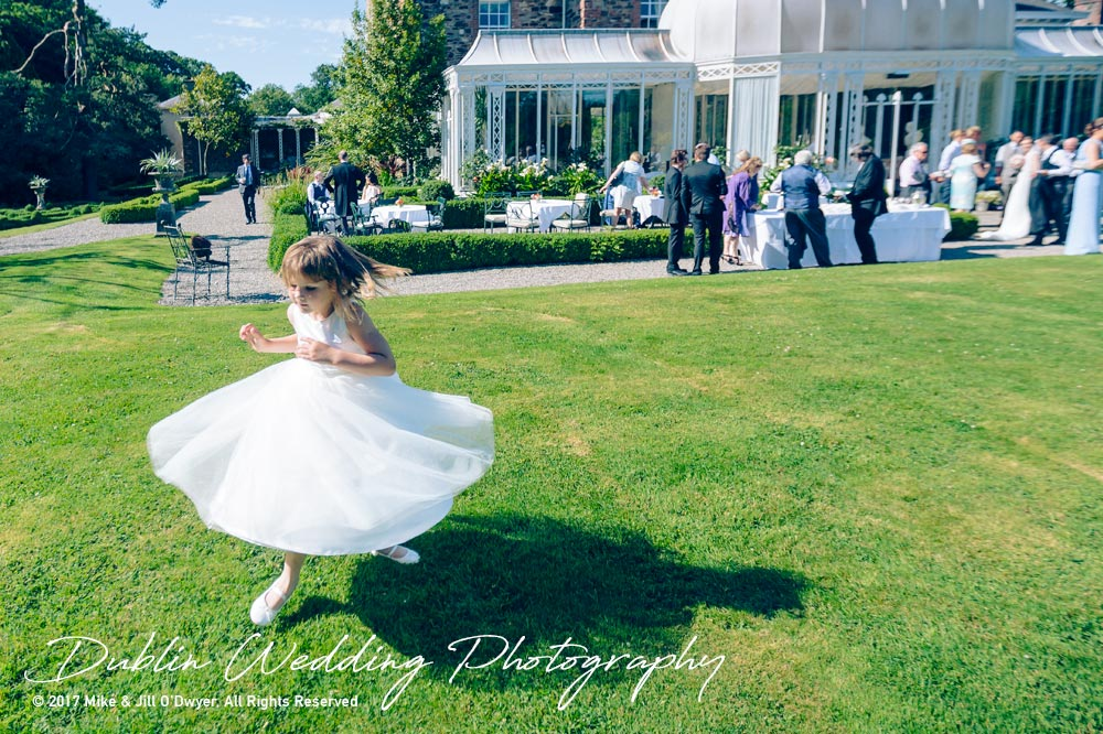 Marlfield House Wedding  Girl Dancing