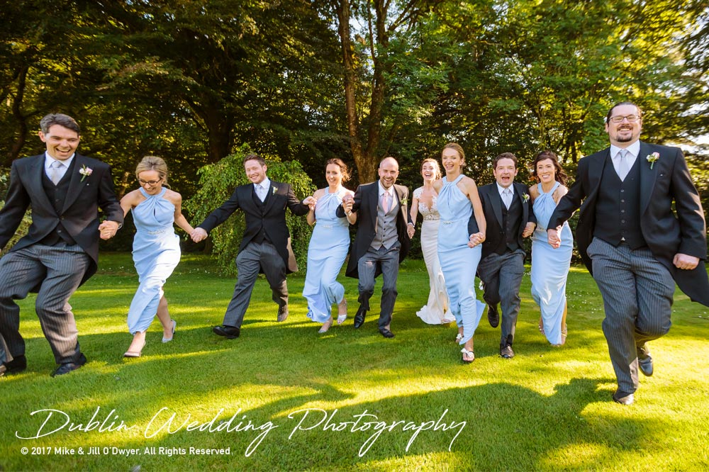 Marlfield House Wedding  Bridesmaids and Groomsmen