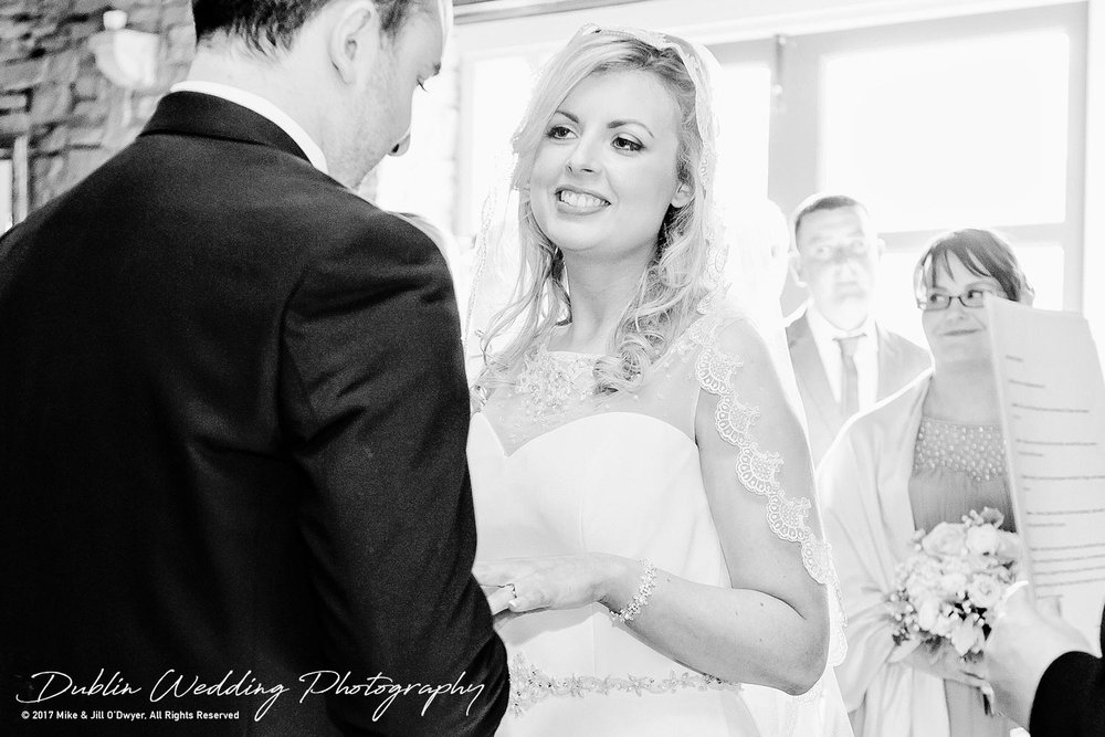 Clonabreany Bride and groom and rings