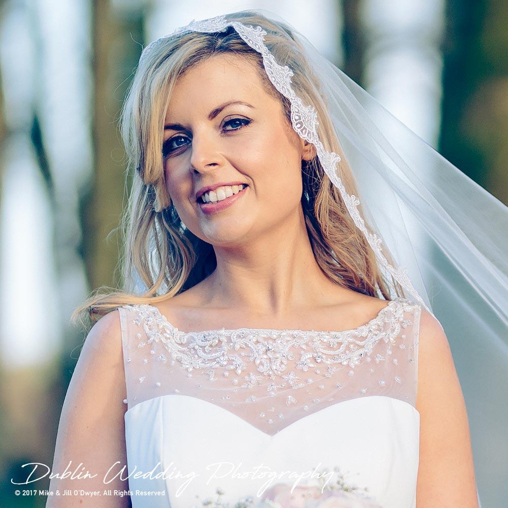 Clonabreany House Wedding Bride at gate