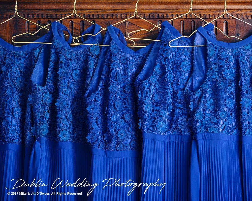 Wedding Photographers Dublin Castle Leslie Monaghan Bridesmaids Dresses Hanging