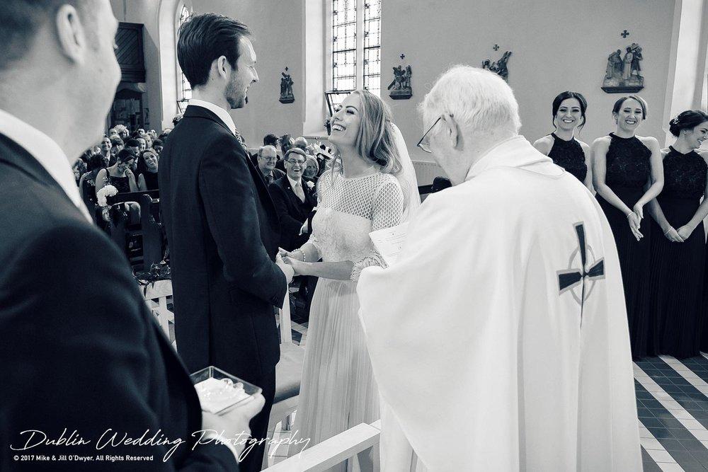 Wedding Photographer Dublin Bride & Groom getting married in church