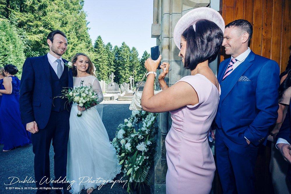 Wedding Photographer Dublin Castle Leslie Bride and Groom Posing for photos