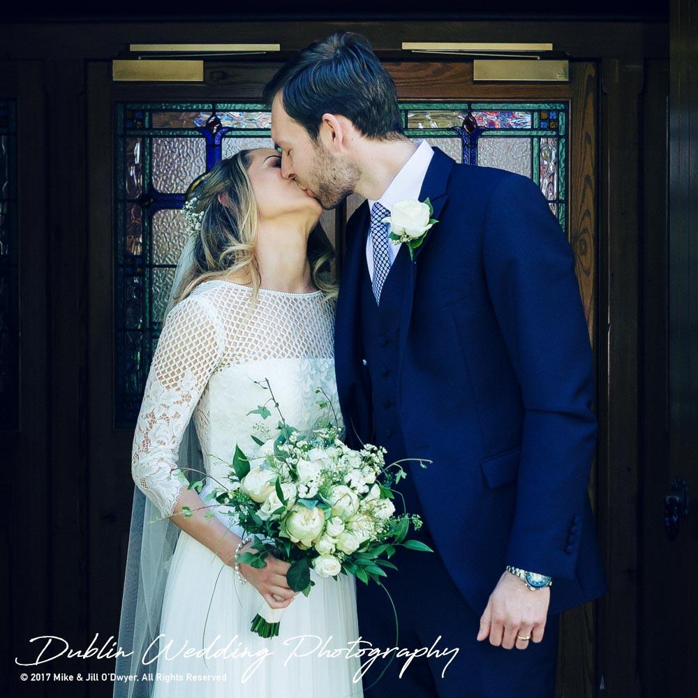Wedding Photographer Dublin Castle Leslie Bride and Groom Kissing