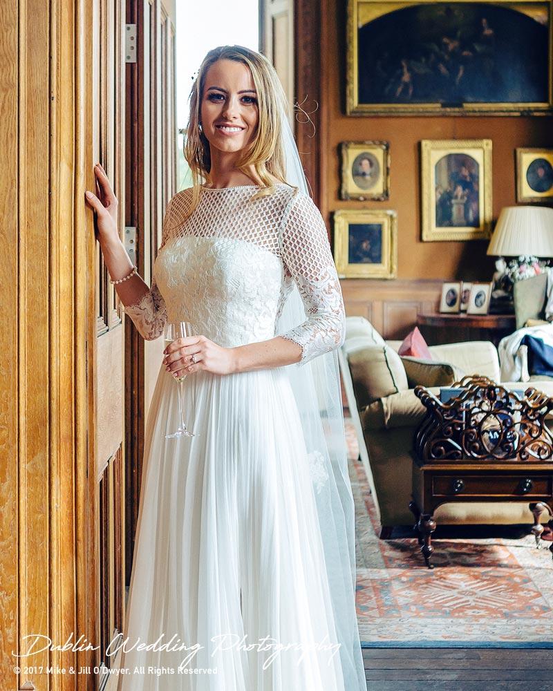 Wedding Photographer Dublin Castle Leslie Interior Bride