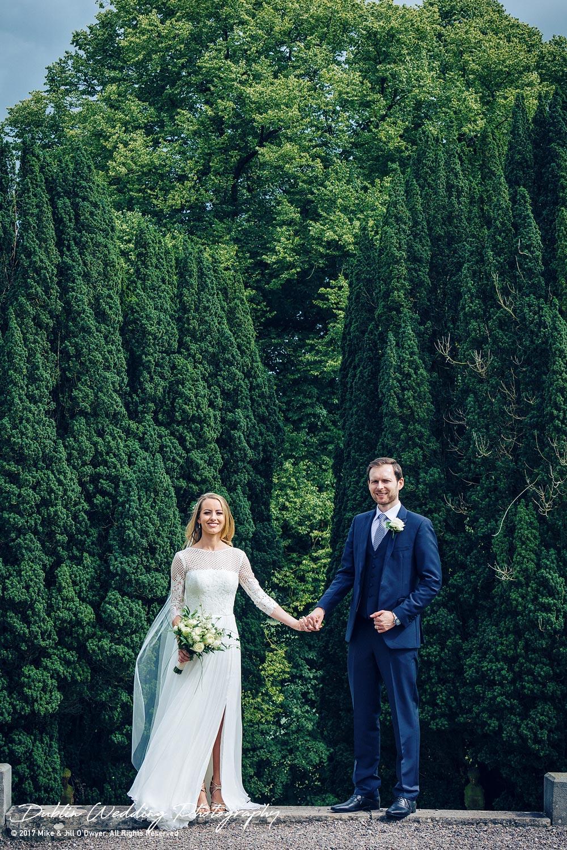 Wedding Photographers Dublin Castle Leslie Monaghan Bride & Groom Standing