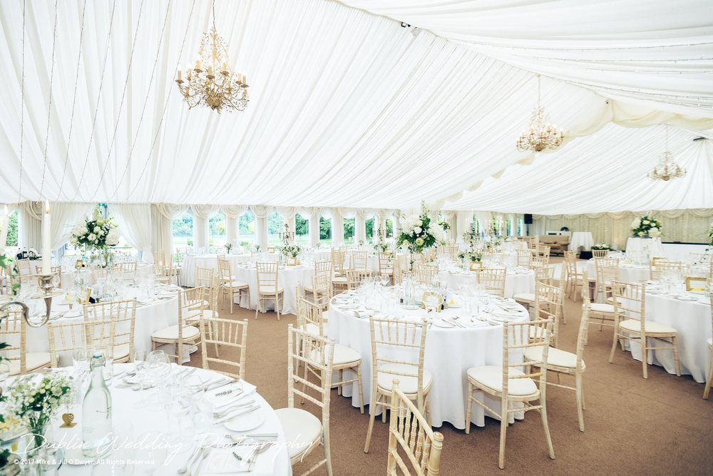 Castle Leslie Banqueting Marquee