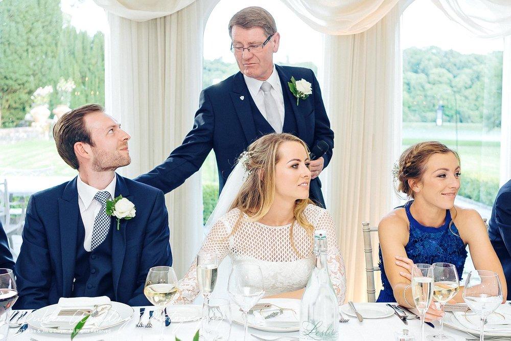 Fathers Speech castle Leslie Dublin Wedding photography