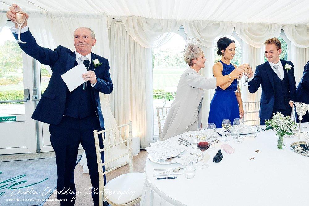Dublin Wedding Photography Castle Leslie Other Fathers Speech