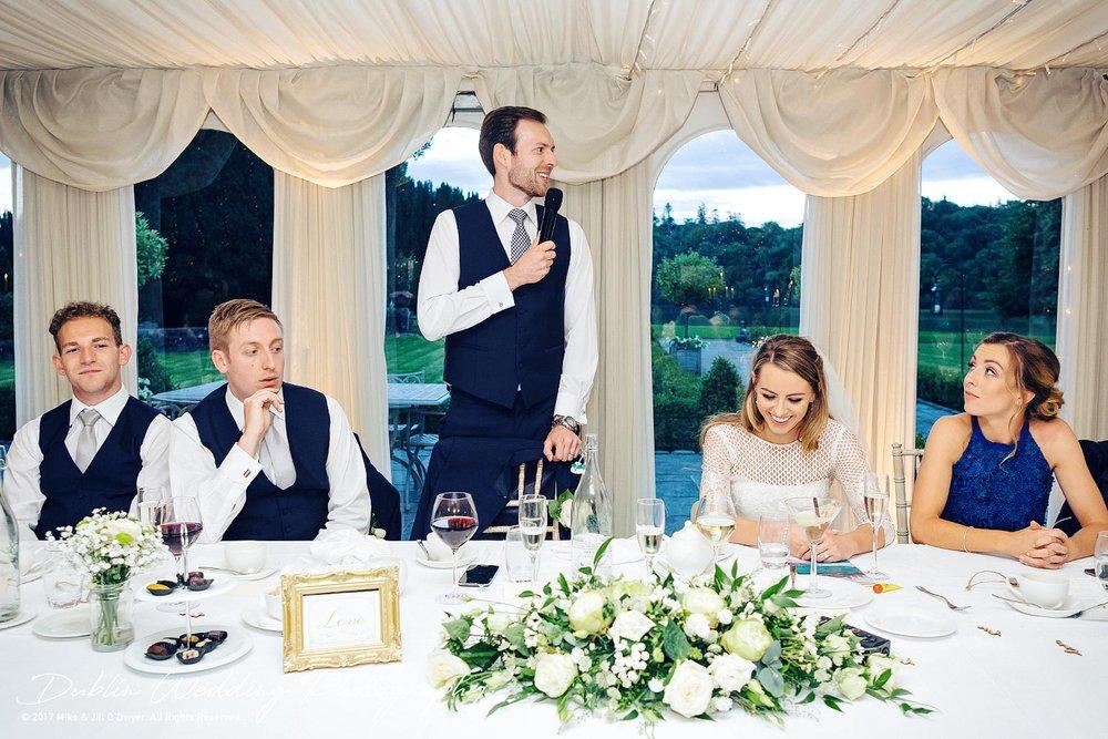 Dublin Wedding Photography Castle Leslie Groom's Speech