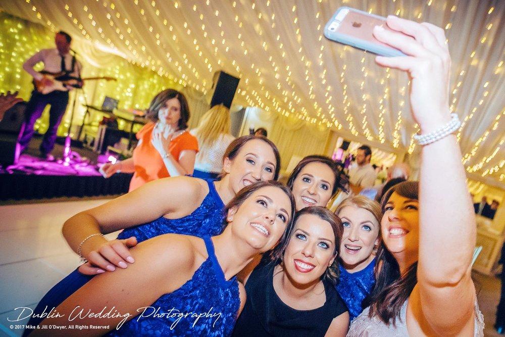 Dublin Wedding Photography Castle Leslie Guest Selfies