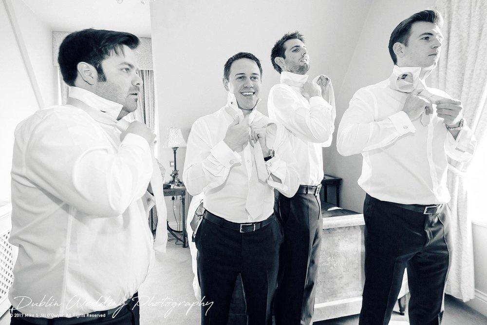 Chris & the Groomsmen getting ready